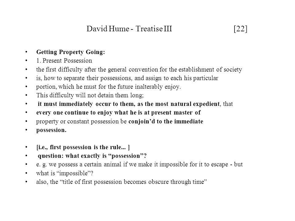 David Hume - Treatise III [22]